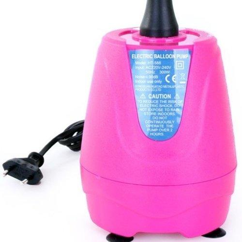 Elektrische ballonpomp roze 300W