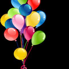 Ballonnen gevuld met helium ø 30cm