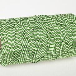 Bindtouw of koord groen/wit 500 gr