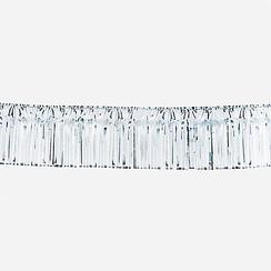 Folie slinger franje zilver 10 m brandveilig