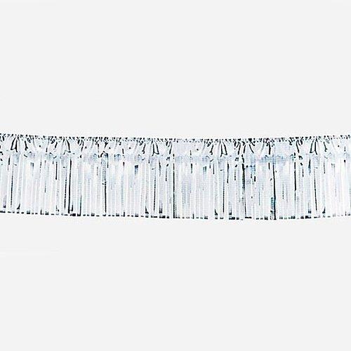 Folie slinger franje zilver 6 m brandveilig