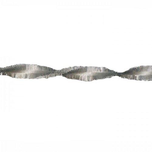 Crepe slinger zilver 24 m brandveilig