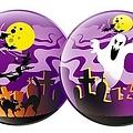 Decoratiebol Spooky 40 cm brandveilig