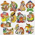 HSA Raamsticker set  clowns 42 x 30 cm 12 stuks