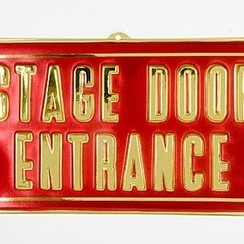 Wanddeco Stage Door Entrance 29 x 60 cm brandveilig