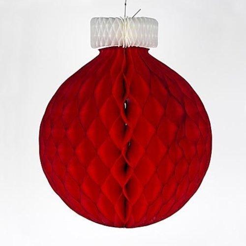 Kerstbal rood 32 cm brandveilig