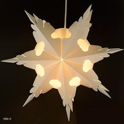 Kerstster met licht ø 43 cm brandveilig