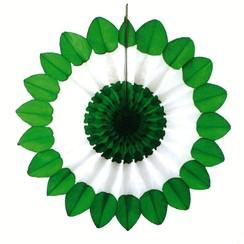 Decoratie waaier St. Patrick's Day ø 67 cm brandveilig