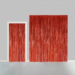 Folie deurgordijn XL oranje metallic 2,4 x 1 m brandveilig