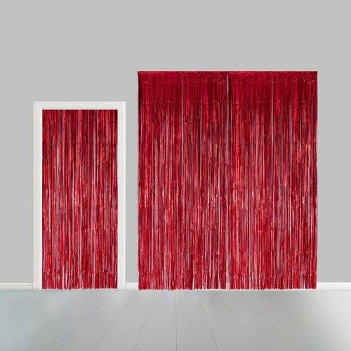 Folie deurgordijn XL rood metallic 2,4 x 1 m brandveilig