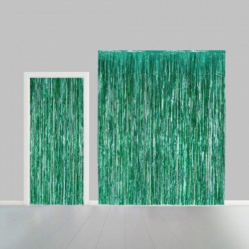 Globos Nordic Folie deurgordijn XL groen metallic 2,4 x 1 m brandveilig