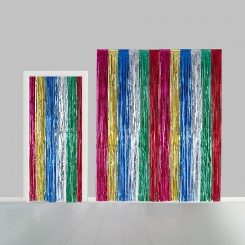 Globos Nordic Folie deurgordijn XL multi metallic 2,4 x 1 m brandveilig