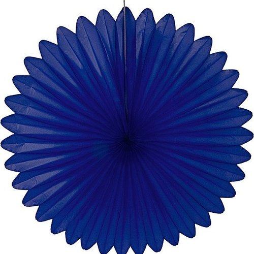 Decoratie waaier blauw 68 cm brandveilig
