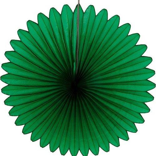 Decoratie waaier groen 68 cm brandveilig