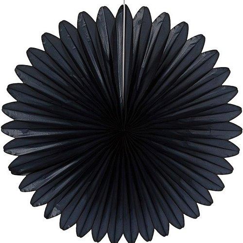 Decoratiewaaier zwart 68 cm brandveilig