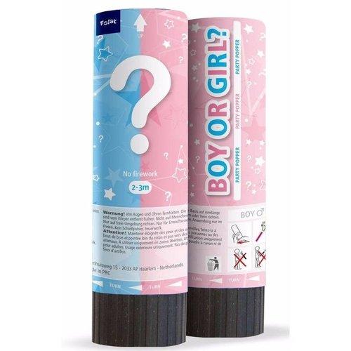 Folat Confetti shooter gender reveal meisje 15 cm