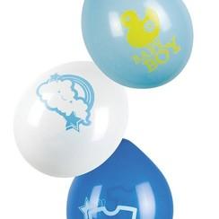 Ballonnen Baby Boy 6 stuks