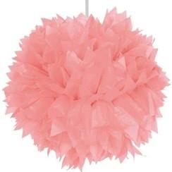 Pompom roze 30 cm