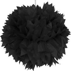 Pompom zwart 30 cm