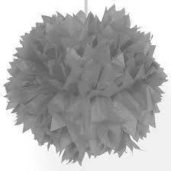 Pompom zilver 30 cm