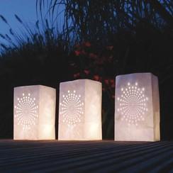 Lichtzakjes wit zon 26,5 x 15,5 x 9 cm 5 stuks