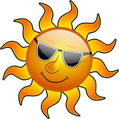 Raamsticker statisch zon 40 x 30 cm