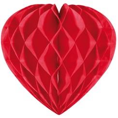 Decoratie hart rood 30 cm