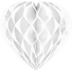 Decoratie hart wit 30 cm