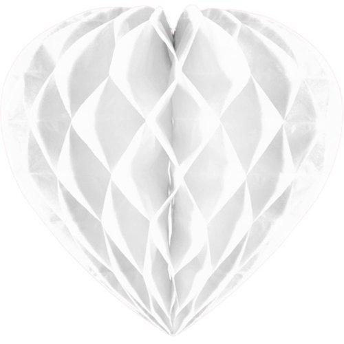 Folat Decoratie hart wit 30 cm