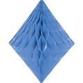 Folat Decoratie diamant lichtblauw 30 cm
