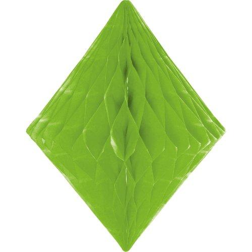 Folat Decoratie diamant lichtgroen 30 cm