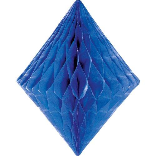 Folat Decoratie diamant blauw 30 cm
