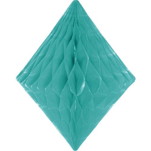 Folat Decoratie diamant muntgroen 30 cm