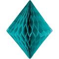 Folat Decoratie diamant turquoise 30 cm