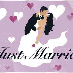 Gevelvlag Just Married 90 x 60 cm