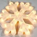 Sneeuwvlok met glitter en licht ø48cm