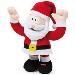 Dansende en zingende kerstman 30 cm