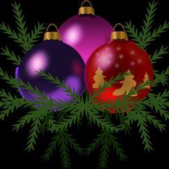 Raamsticker statisch kerstballen 40 x 30 cm