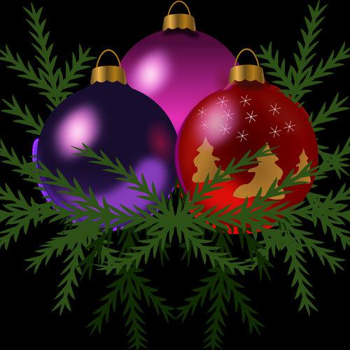 HSA Raamsticker statisch kerstballen 40 x 30 cm