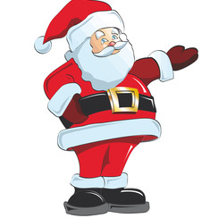 Raamsticker statisch kerstman 40 x 30 cm