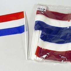 Zwaaivlag rood-wit-blauw 20 x 30 cm