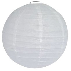 Bol lampion XL wit ø 40cm
