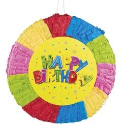 Piñata happy birthday 40 x 40 cm