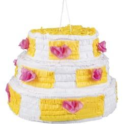Piñata verjaardagstaart 28 x 40 cm