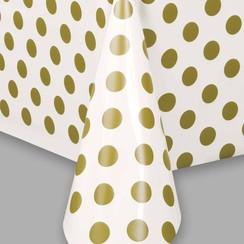 Tafelkleed gouden stippen 137 x 274 cm