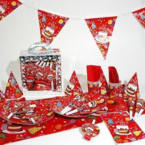 Feestpakket Happy Birthday voor 6 personen