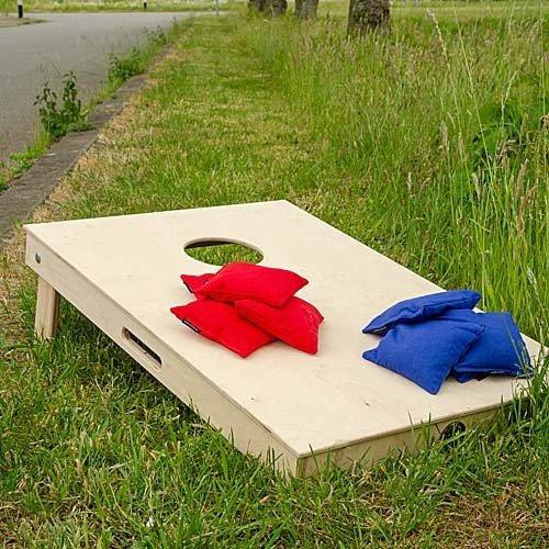 Cornhole natural tailgate board 90 x 60 cm