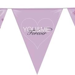 Vlaggenlijn huwelijk you & me 6 m