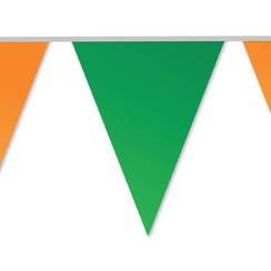 Vlaggenlijn oranje-groen 10 m