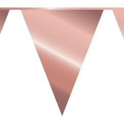 Vlaggenlijn goudroze 10 m